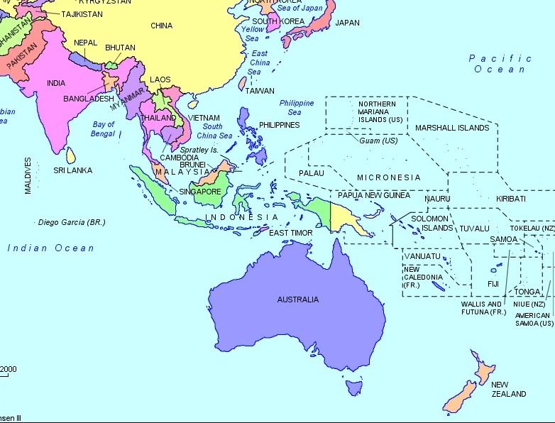 Carte Australie Pacifique.La Mission Jeanne D Arc Symbole Du Renforcement De La